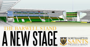 The new Barwell Stand at Franklins Gardens